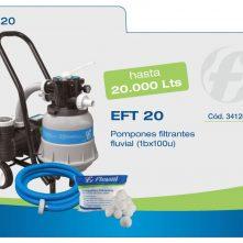 Filtro pileta Portatil completo EFT 20 Fluvial