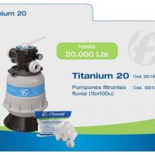 Filtro pileta Fluvial Titanium FT20 – para 20 mil litros