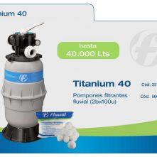 Filtro pileta Fluvial Titanium FT40 – para 40 mil litros