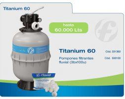 Filtro pileta Fluvial Titanium FT60 – para 60 mil litros